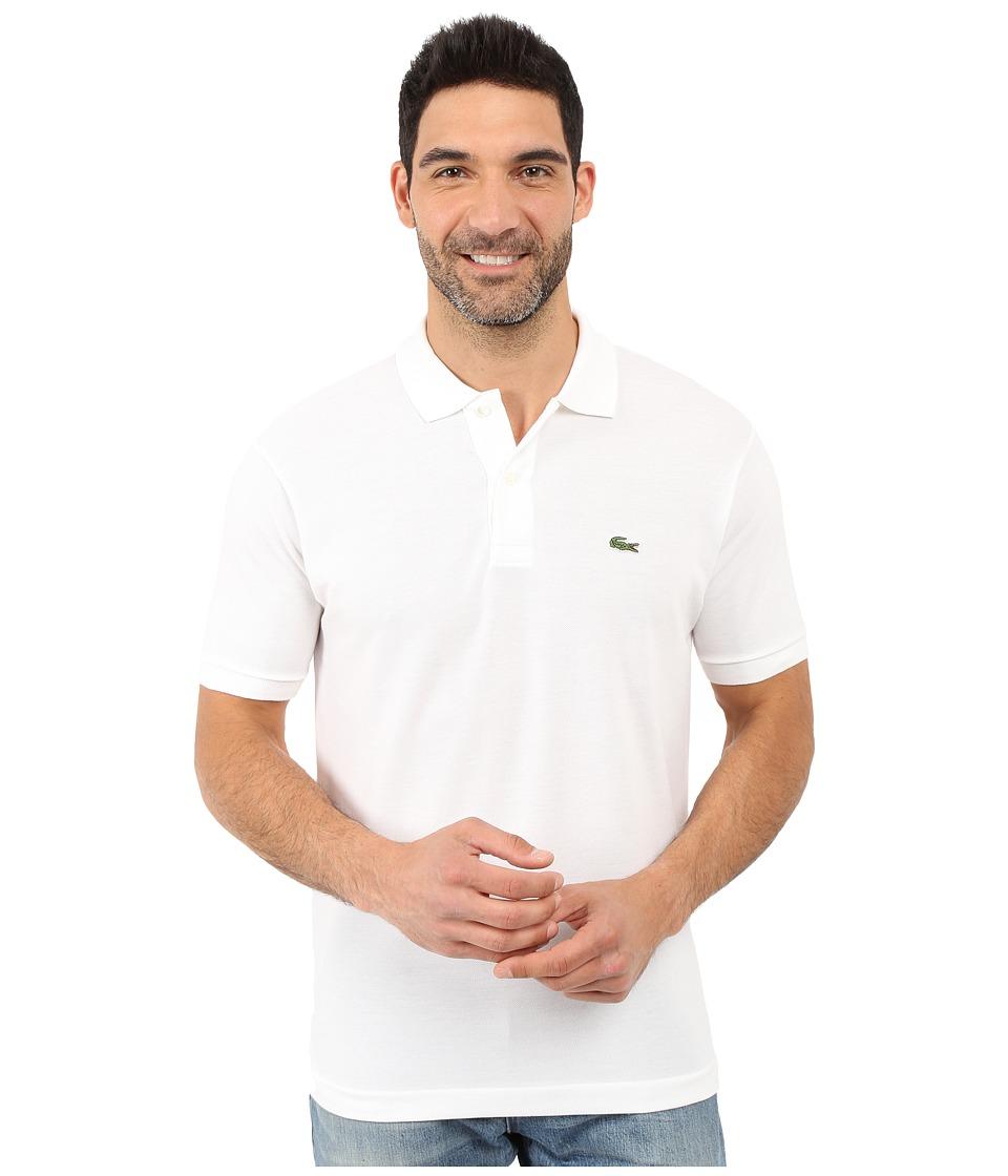 Lacoste - L1212 Classic Pique Polo Shirt (White) Men