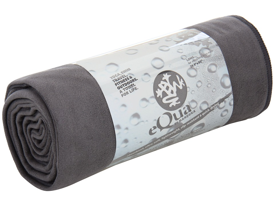 Manduka - eQua Mat Towel (Extra Long) (Thunder) Athletic Sports Equipment