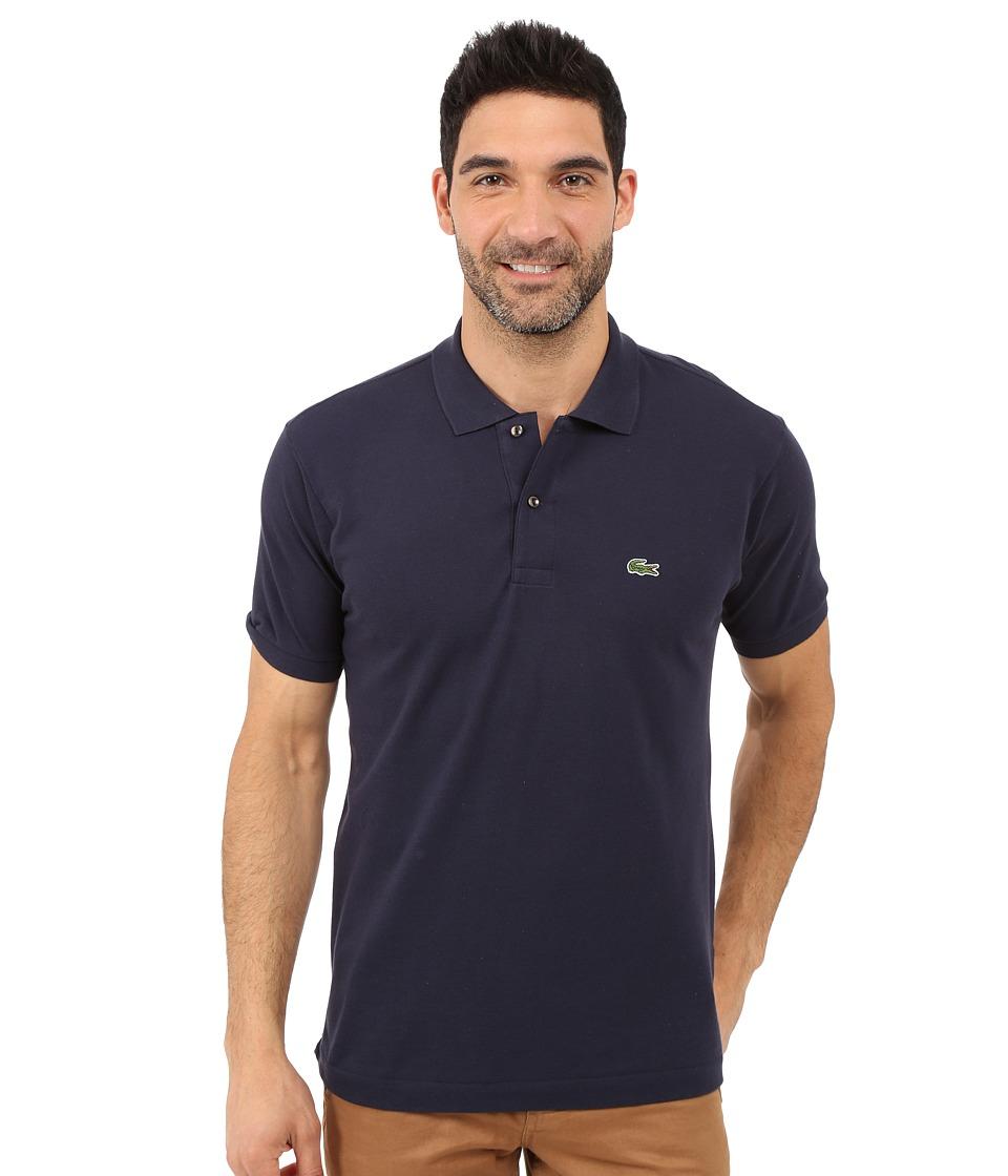Lacoste - L1212 Classic Pique Polo Shirt (Navy Blue) Men
