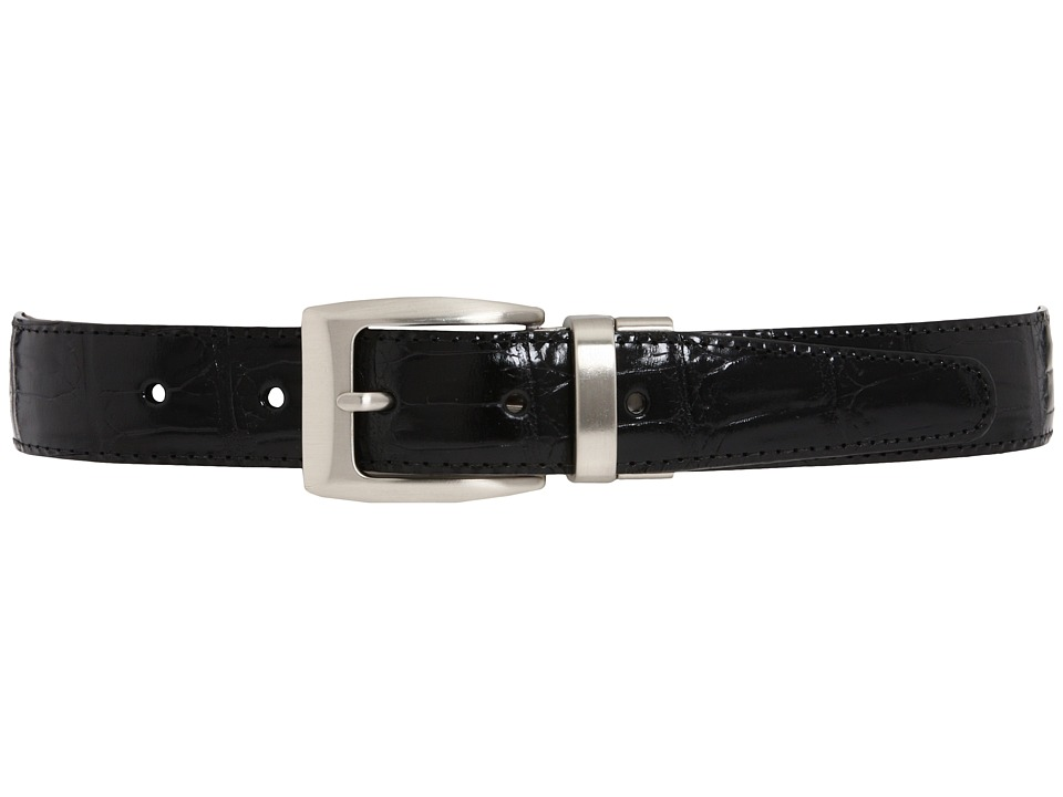 Brighton - Croco Reversible Belt (Black/Peanut) Mens Belts