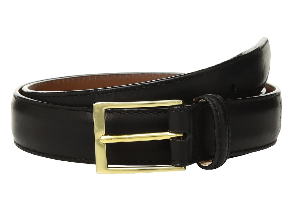 Brighton - Analine Glaze Belt (Black) Mens Belts