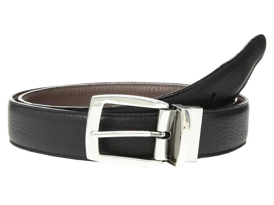 Brighton - Jefferson Reversible Belt (Black/Espresso) Mens Belts