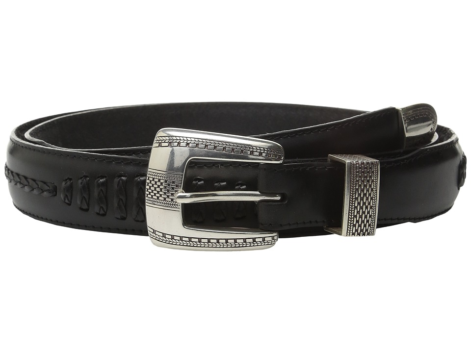 Brighton - Salina Taper Belt (Black) Mens Belts