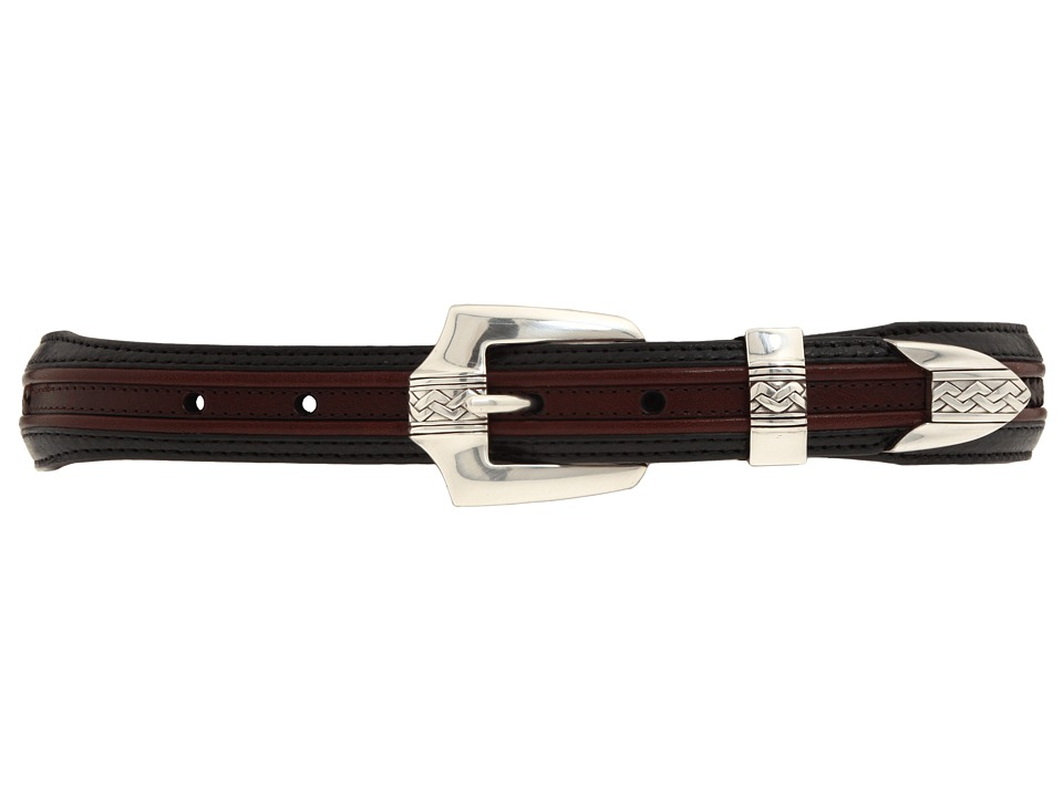 Brighton - Pinon Hills Inlay Lace Belt (Black/Brown) Mens Belts