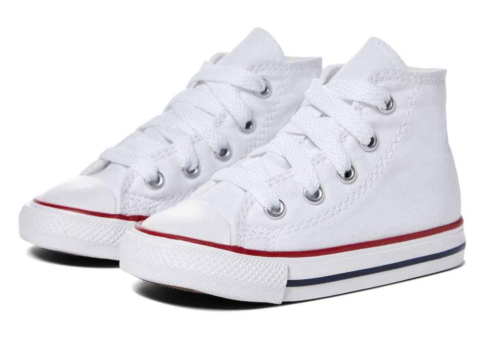 Converse Kids Chuck Taylor All Star Core Hi (Infant/Toddler) (Optical White) Kids Shoes