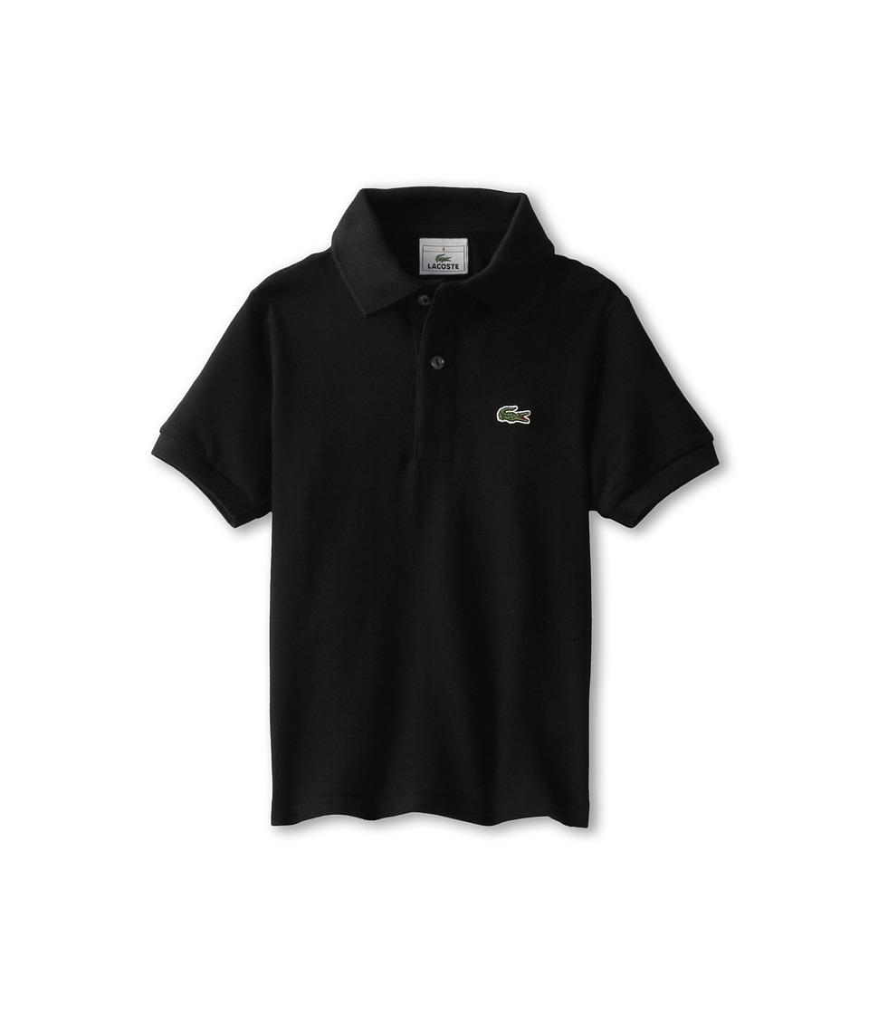 Lacoste Kids - Short Sleeve Classic Pique Polo Shirt (Toddler/Little Kids/Big Kids) (Black) Boy