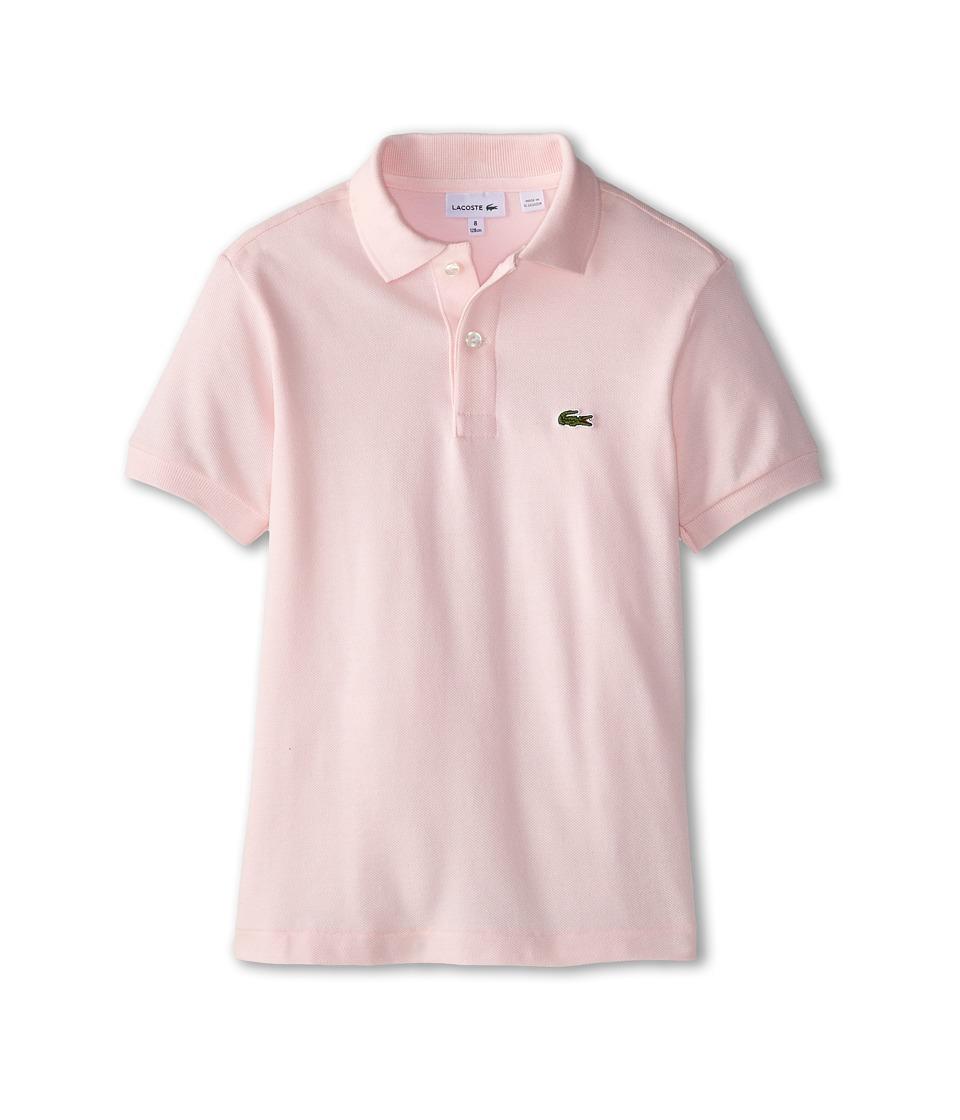 Lacoste Kids - Short Sleeve Classic Pique Polo Shirt (Toddler/Little Kids/Big Kids) (Flamingo) Boy