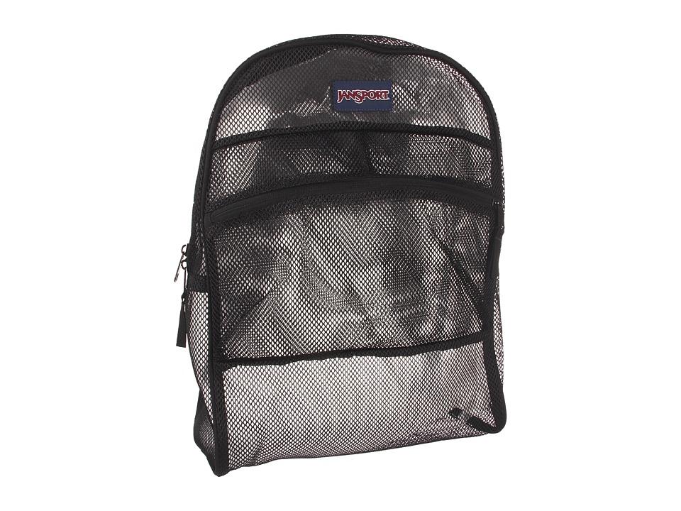 JanSport Mesh Pack Black Backpack Bags