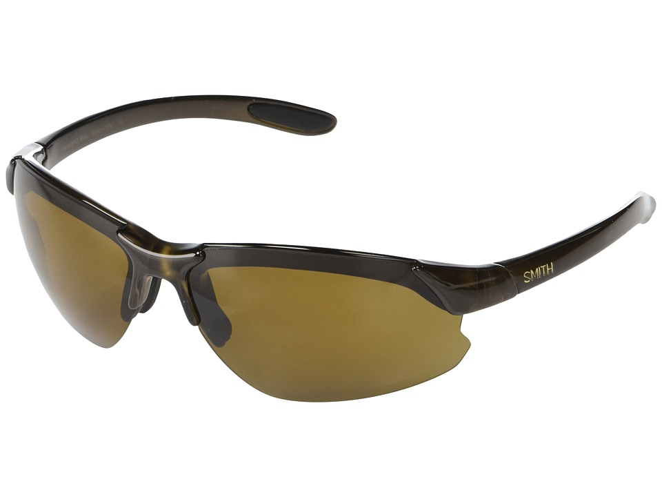 Smith Optics Parallel D-Max Polarized Lens (Brown/Brown/Ignitor/Clear Polarized Lens) Sport Sunglasses