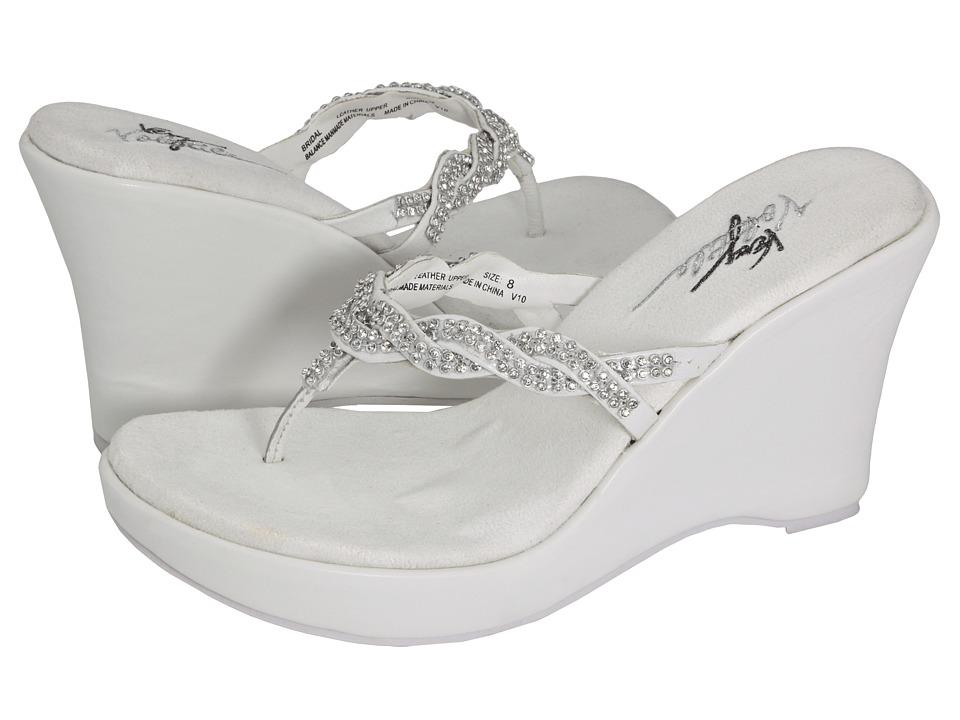VOLATILE Bridal (White) Wedge Shoes
