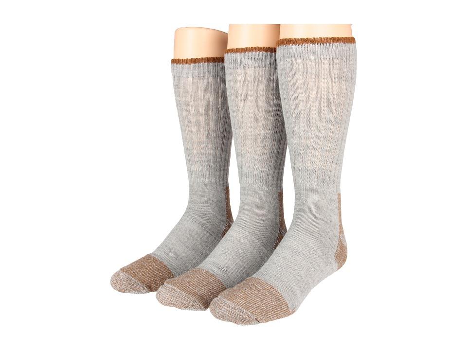 Fox River Steel Toe Crew Wool Heavyweight 3 Pack Grey Crew Cut Socks Shoes