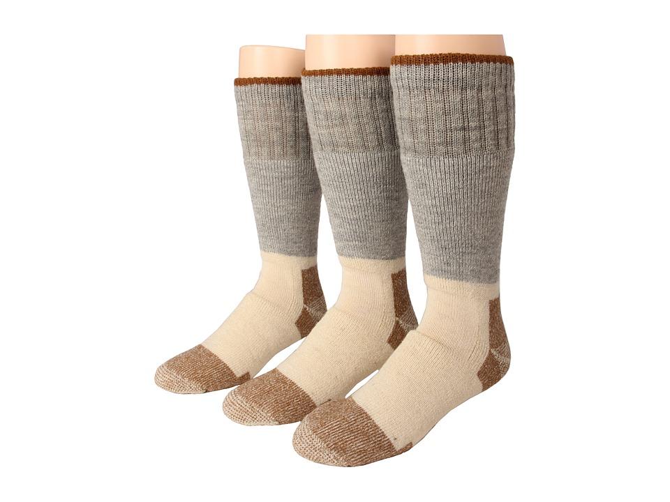 Fox River Steel Toe Boot Wool Heavyweight 3 Pair Pack Grey Knee High Socks Shoes