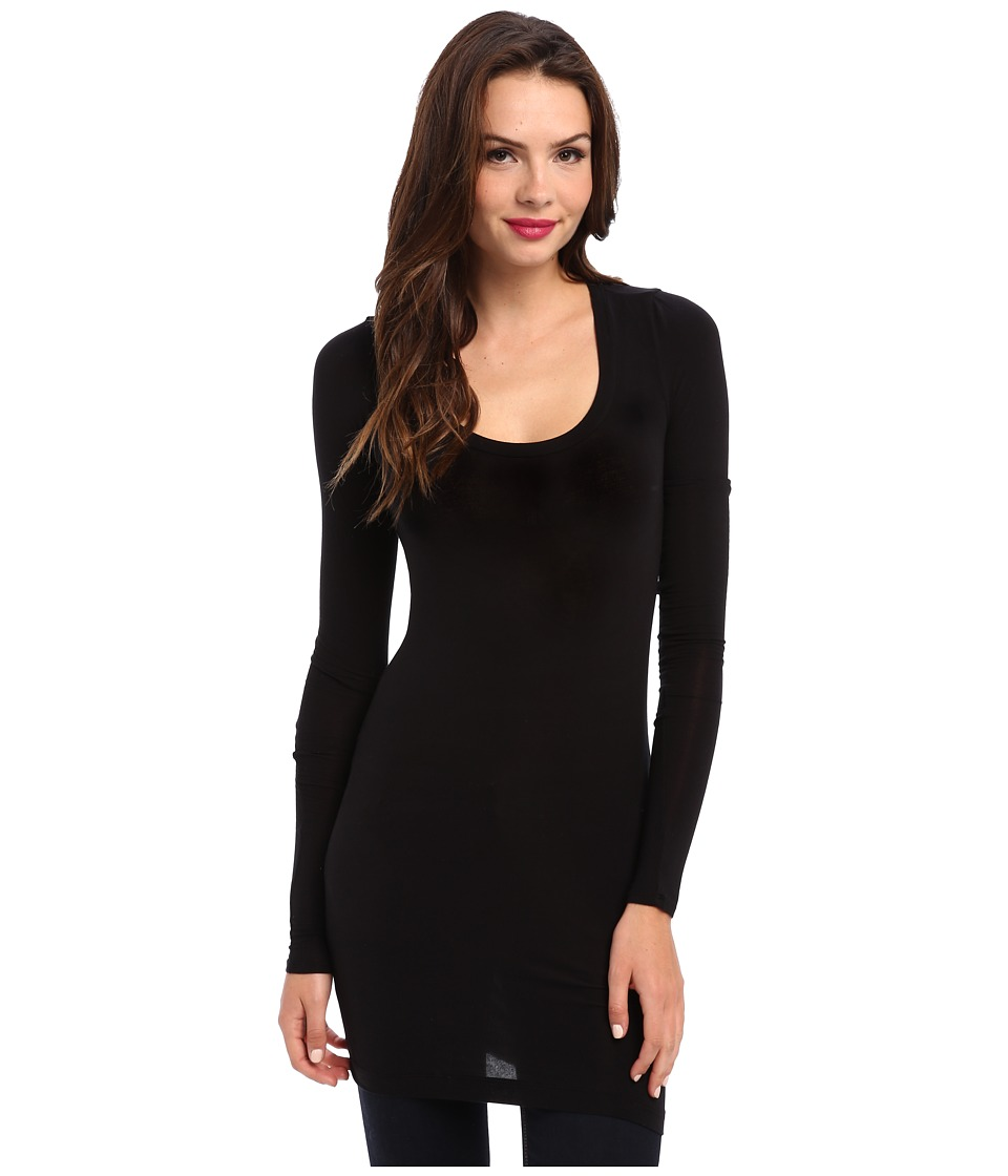 Splendid - Stretch Sheer Layers Tunic (Black) Womens Blouse