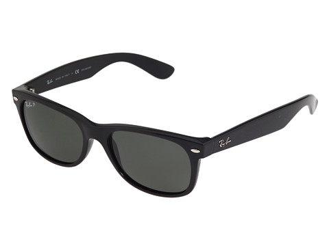 black ray ban wayfarer polarized  Ray-Ban RB2132 New Wayfarer Polarized 55mm - Zappos.com Free ...