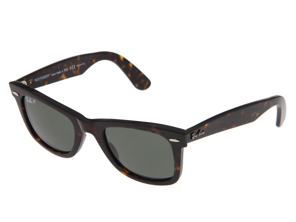 Ray-Ban RB2140 Original Wayfarer Polarized (Tortoise/Green Polarized Lens) Fashion Sunglasses