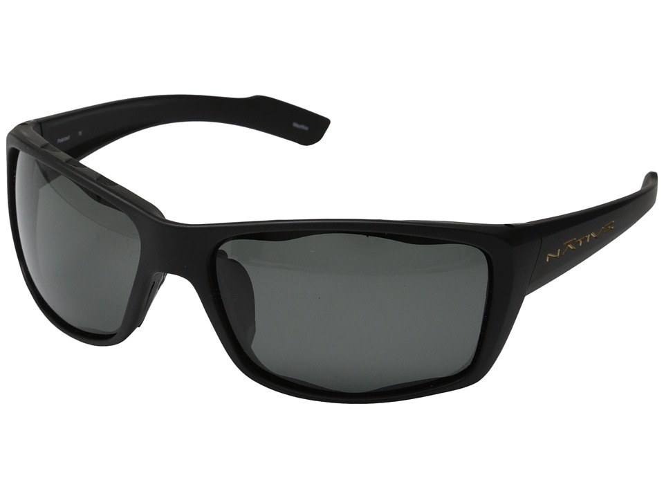 Native Eyewear - Wazee Polarized (Asphalt/Grey Polarized Lens) Sport Sunglasses