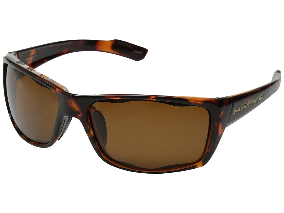 Native Eyewear Wazee Polarized (Maple Tort/Brown Polarized Lens) Sport Sunglasses