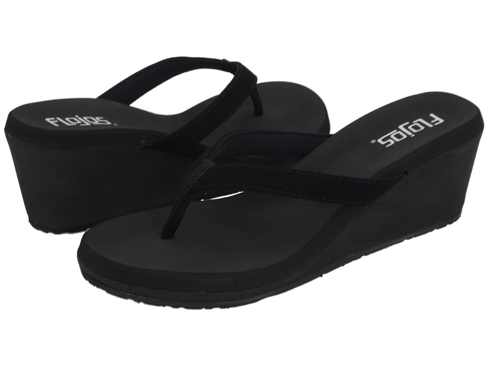 Flojos Olivia (Black) Sandals