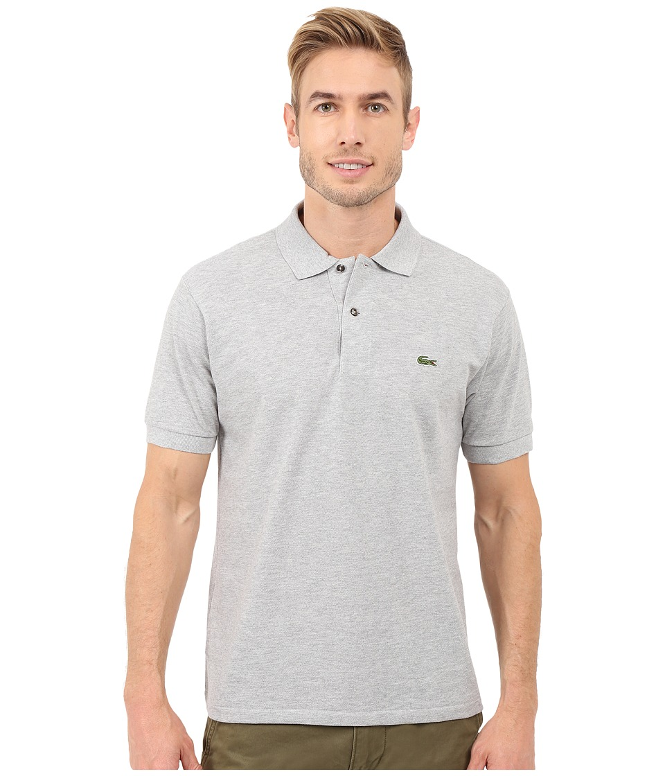 Lacoste - Short Sleeve Original Heathered Pique Polo (Silver Grey Chine) Men