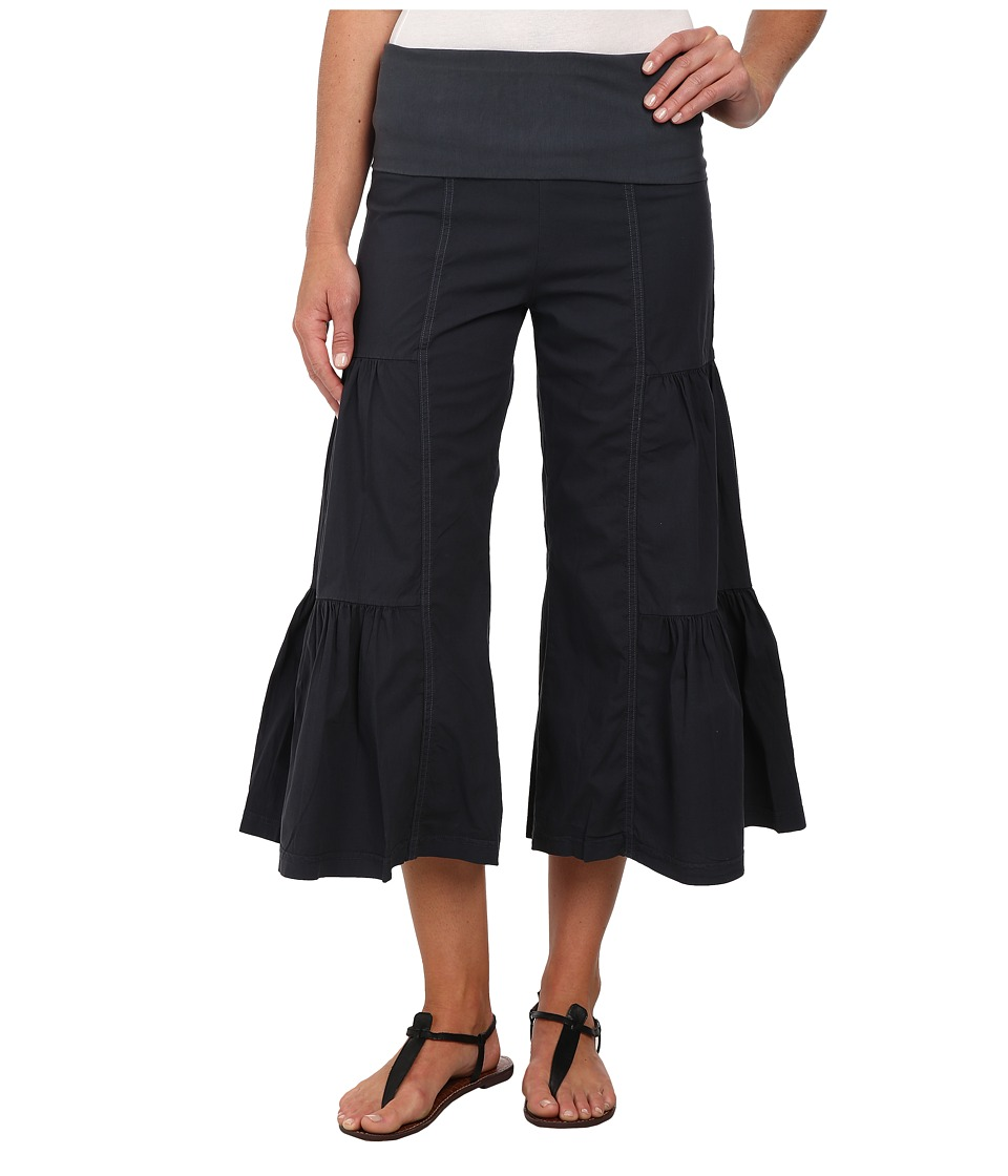 XCVI - Cropped Side Tier Palazzo (Charcoal) Women's Casual Pants