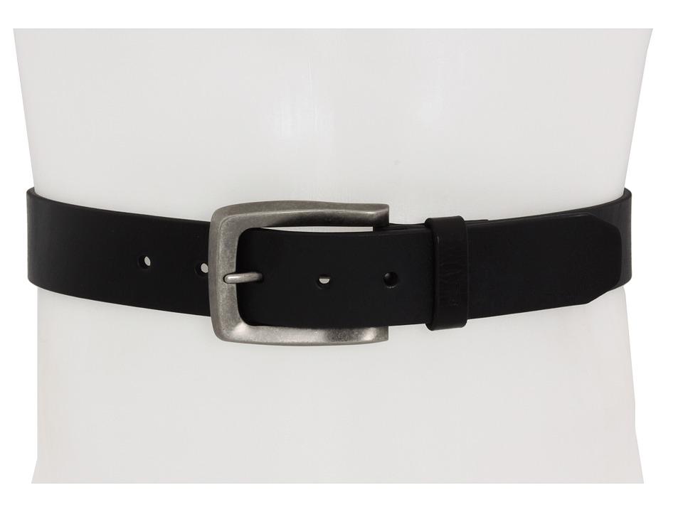John Varvatos 38mm Strap Black LeatherNickel Mens Belts