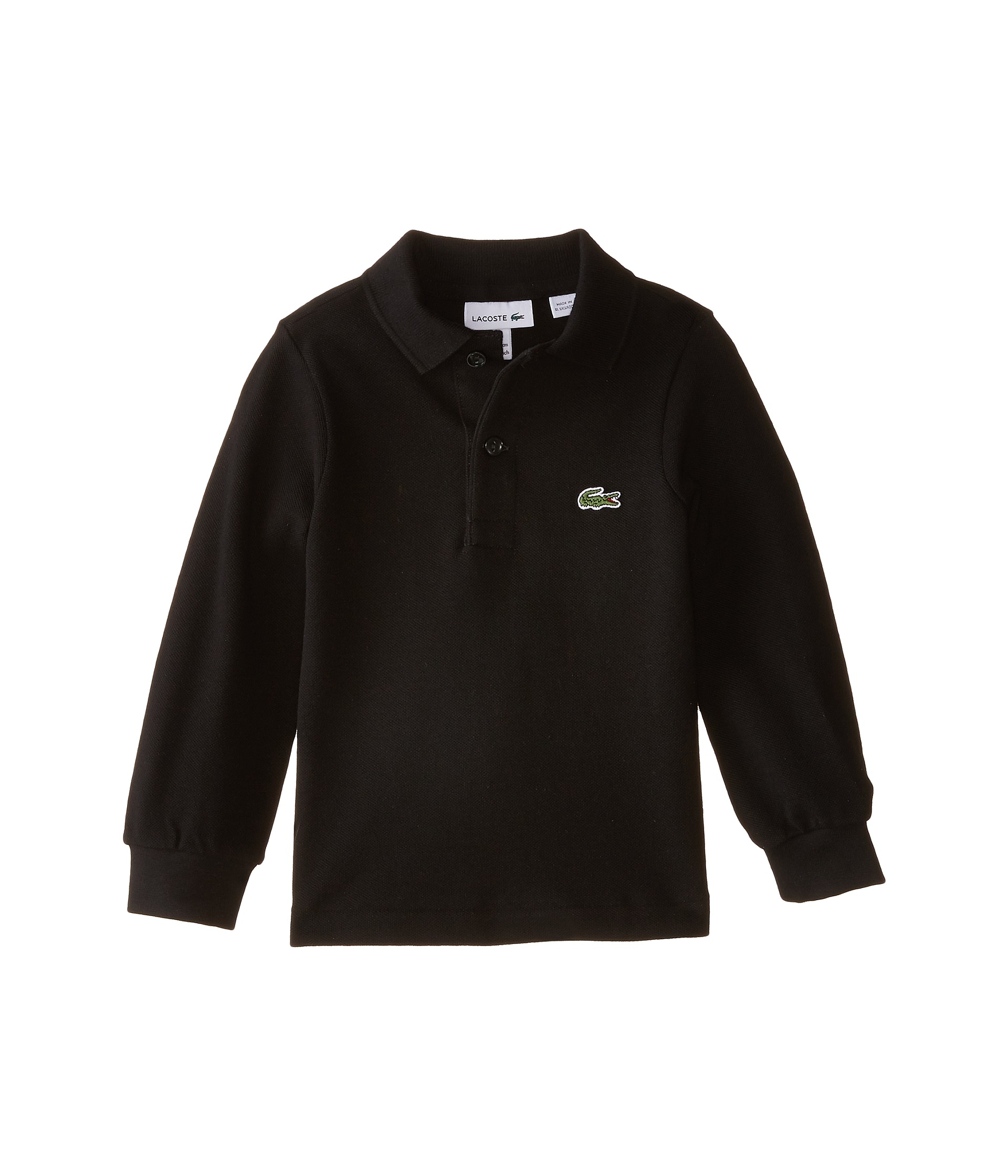 Lacoste Kids Long Sleeve Classic Pique Polo Shirt Toddler