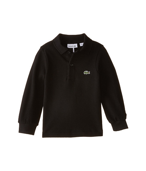 Lacoste Kids Long Sleeve Classic Pique Polo Shirt (Toddler/Little Kids/Big Kids)