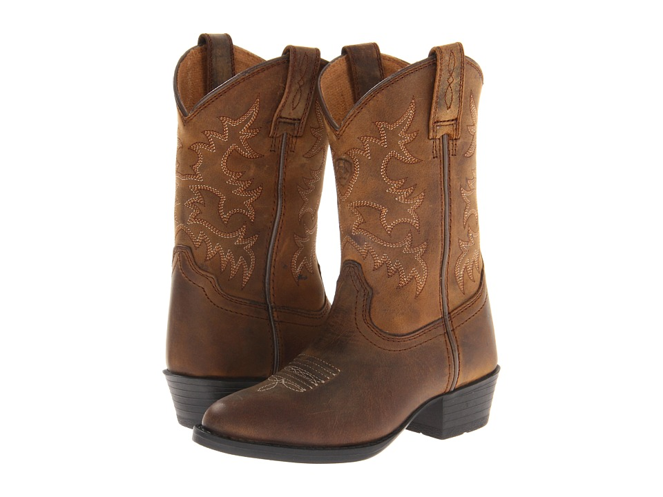 Ariat Kids Heritage Western (Toddler/Little Kid/Big Kid) (Distressed Brown) Cowboy Boots