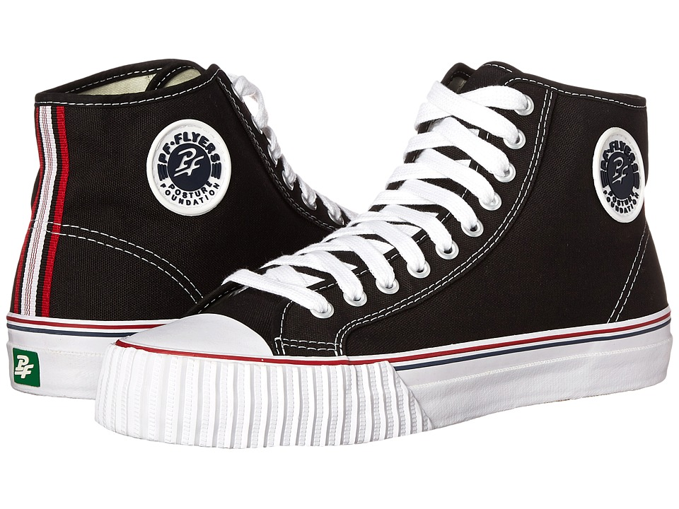 PF Flyers Center Hi Re Issue Black Canvas Classic Shoes