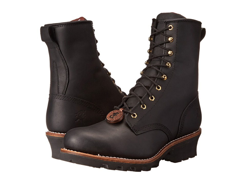 Chippewa - 8 Steel Toe Logger (Black) Mens Work Boots