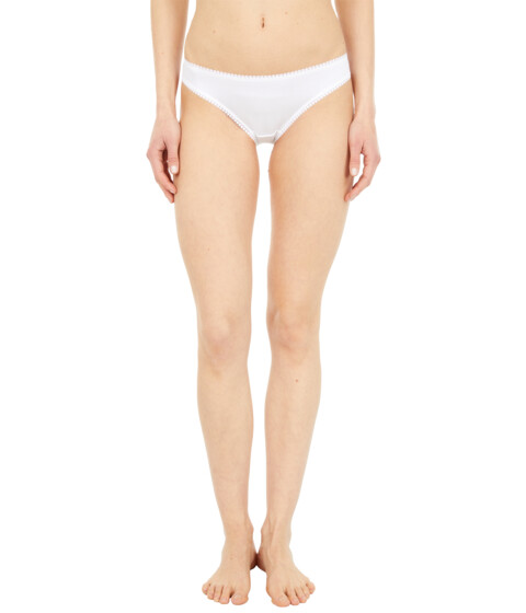 OnGossamer Cabana Cotton Hip Bikini 1402 - White