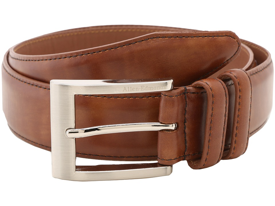 Allen Edmonds - Wide Basic Dress (Walnut) Mens Belts