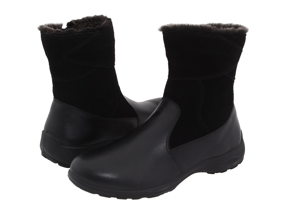 Flexus Fabrice Black Leather/Suede Womens Waterproof Boots