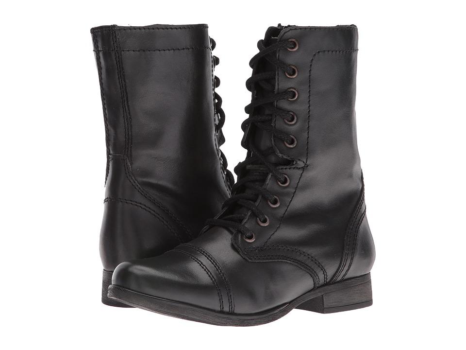 Steve Madden Troopa (Black Leather) Women
