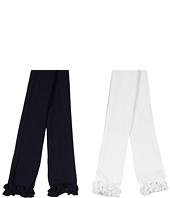 Jefferies Socks - Ruffle Pima Capri 2-Pair Pack (Infant/Toddler/Little Kids/Big Kids)