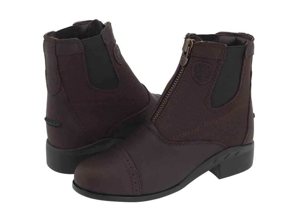 Ariat Kids Heritage Sport Paddock Zip (Little Kid/Big Kid) (Dark Brown) Girls Shoes