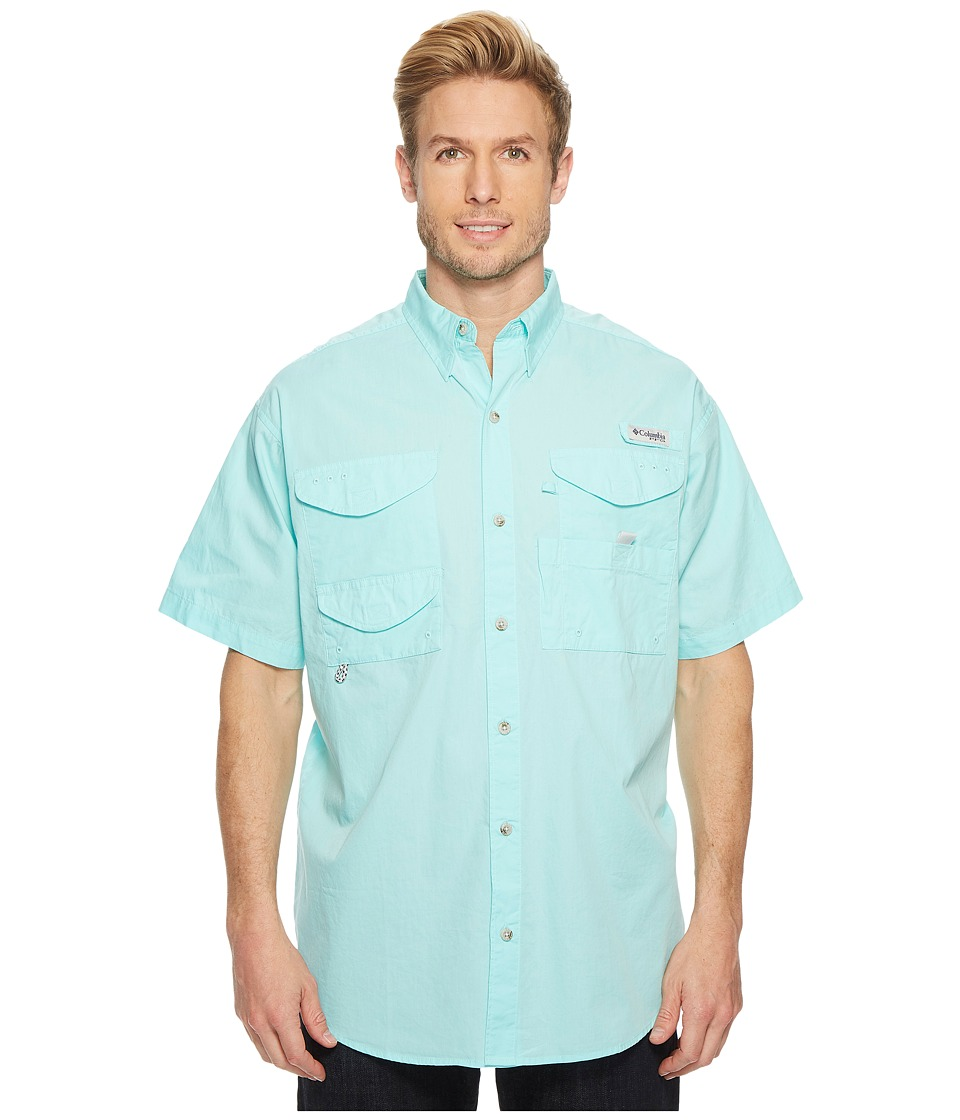 Columbia - Boneheadtm S/S Shirt (Gulf Stream) Mens Short Sleeve Button Up