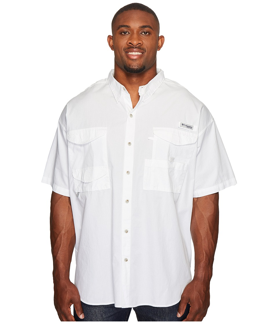 Columbia - Big Tall Boneheadtm S/S Shirt (White) Mens Short Sleeve Button Up