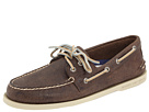 Sperry Top-Sider - A/O 2-Eye Salt Washed (Coffee Salt Washed Leather)
