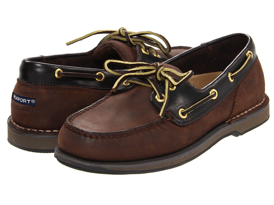 Rockport Ports of Call Perth (Chocolate/Bark) Men's Lace ...