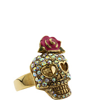 Betsey Johnson - Betsey Vampire Crystal Skull Ring