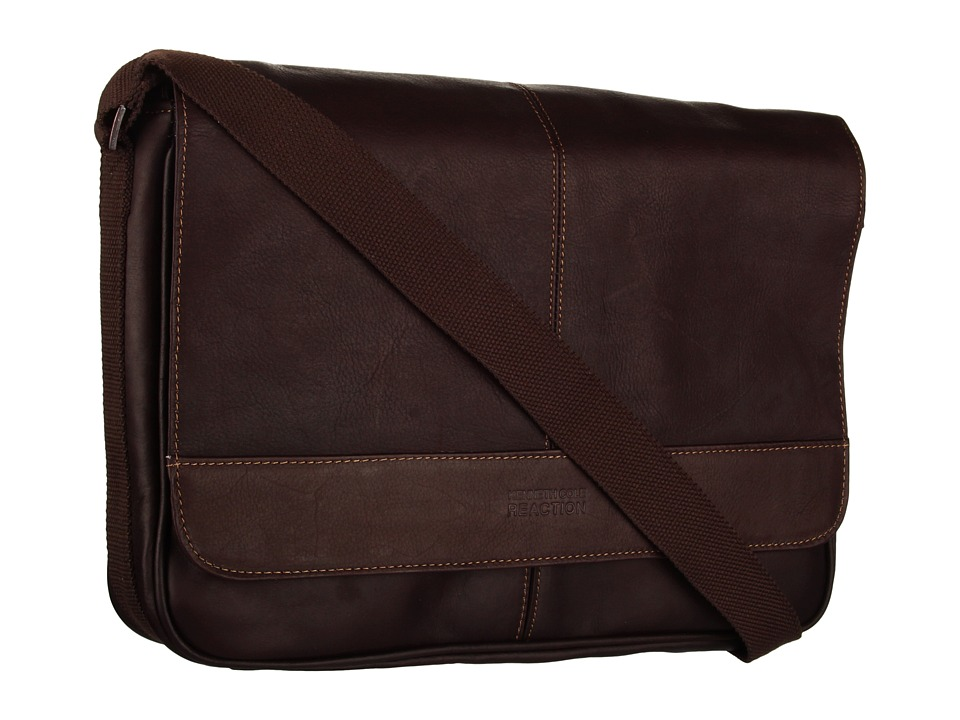 Kenneth Cole Reaction - Risky Business Single Gusset Messenger Bag (Dark Brown) Messenger Bags