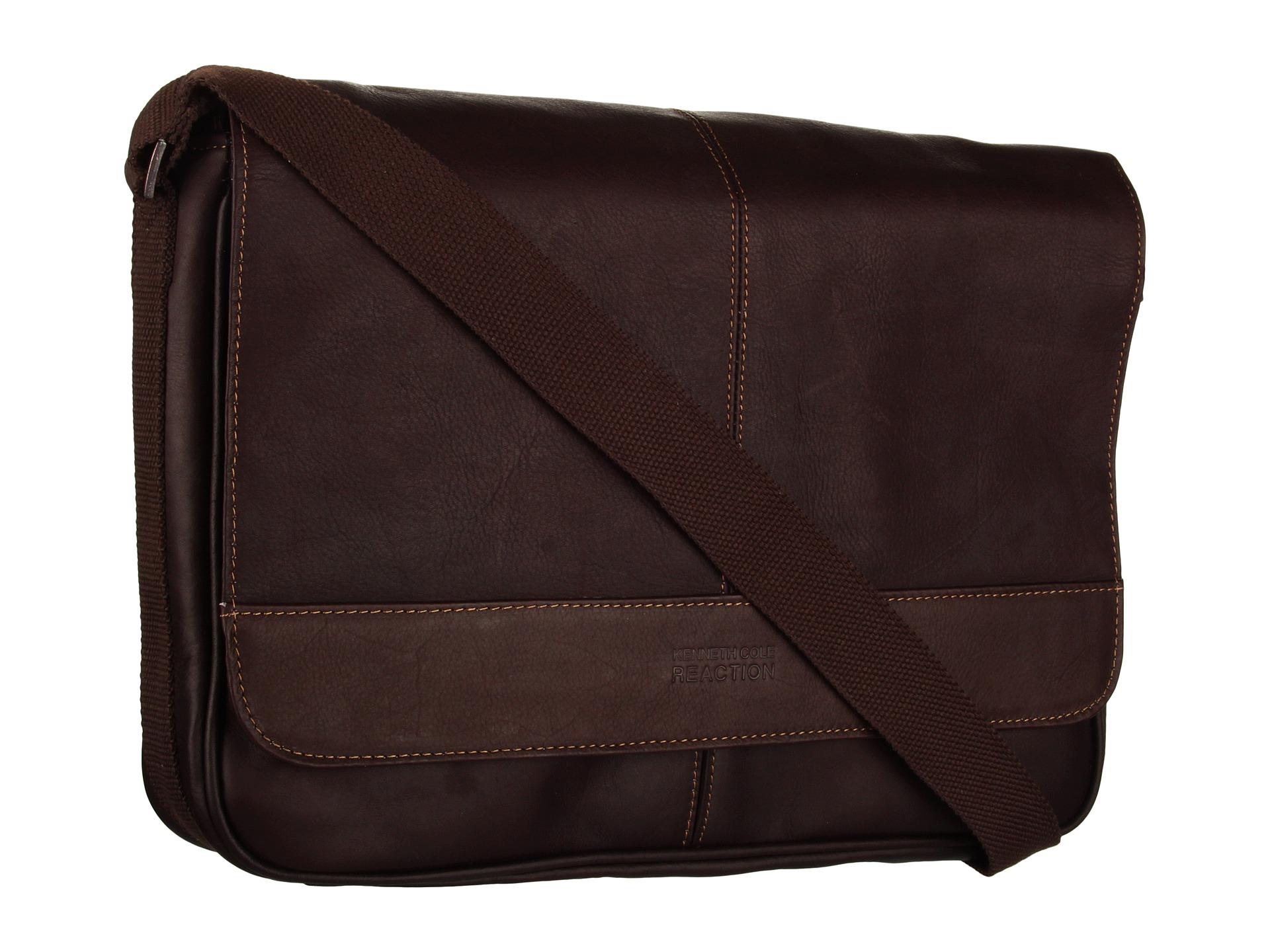 Kenneth Cole Reaction  Risky Business  Single Gusset Messenger Bag Dark  Brown 30ca03197aec7