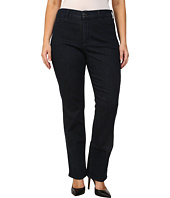 NYDJ Plus Size - Plus Size Marilyn Straight Leg Premium Blue Black