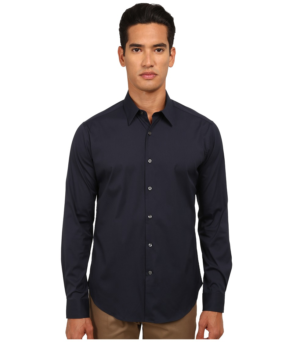 Theory Sylvain Eclipse Mens Long Sleeve Button Up