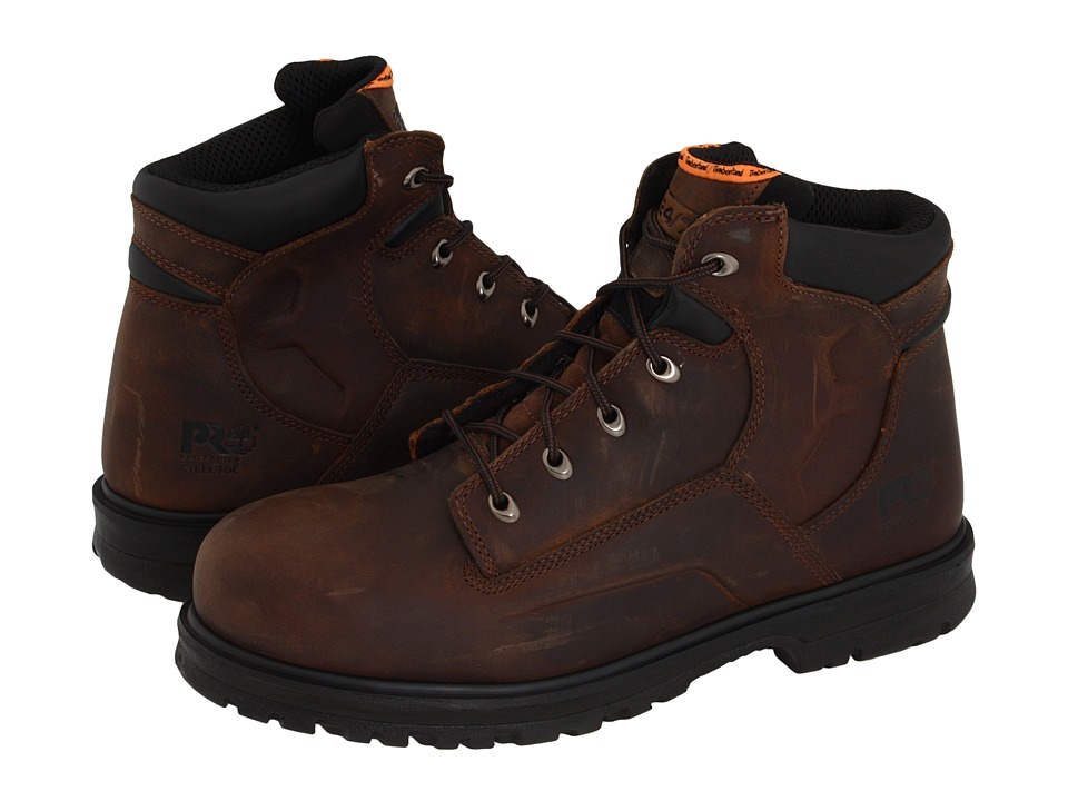 Timberland PRO - Magnus 6 Steel Toe (Brown Oiled Nubuck Leather) Men