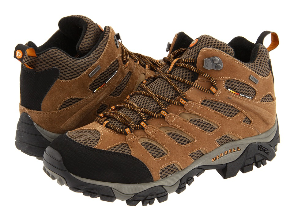 Merrell - Moab Mid Waterproof (Earth Leather) Men