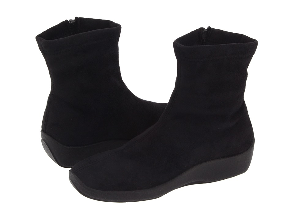 Arcopedico L8 (Black Faux Suede) Women