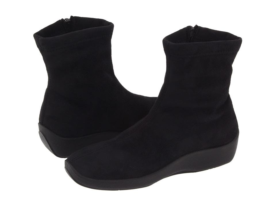 Arcopedico L8 (Black Faux Suede) Women's Zip Boots