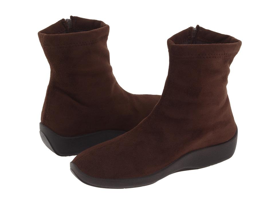 Arcopedico L8 (Brown Faux Suede) Women's Zip Boots